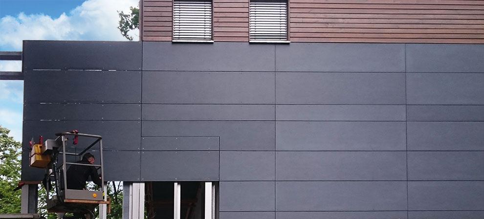 Verkleidung von Fassaden